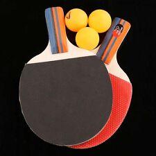 Mesa De Ping Pong Ping Pong Paletas Rojo Y Negro Para Principiantes Set 2 Raquetas Y 3 Pelotas