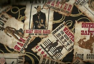 Wild-West-cowboy-Most-Wanted-posters-Kanvas-fabric