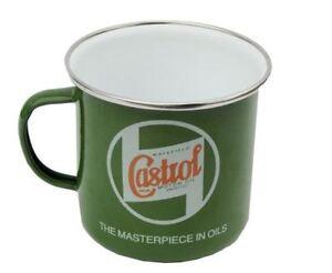 Castrol Oil Retro Vintage Classic Tin Enamel Mug Cup