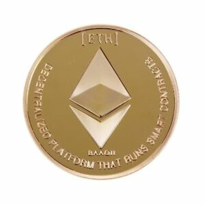 Gold Plated Ethereum Commemorative Collectible  ETH  Miner Coin