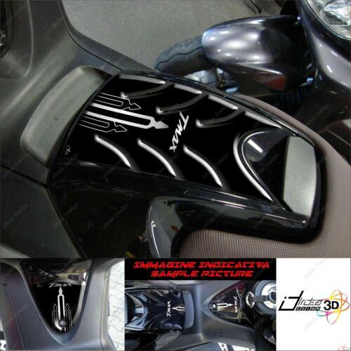 PROTEZIONE TUNNEL ADESIVO 3D PER YAMAHA T MAX 2008 2011 SPORT 500 NERO ARGENTO