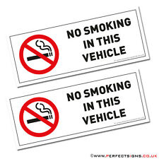 No Smoking Signs For Vehicles