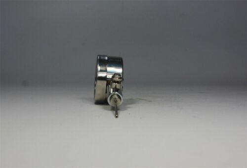 Luftdruckmesser mit Ablassventil Manometer Ball Gehäuse aus Edelstahl
