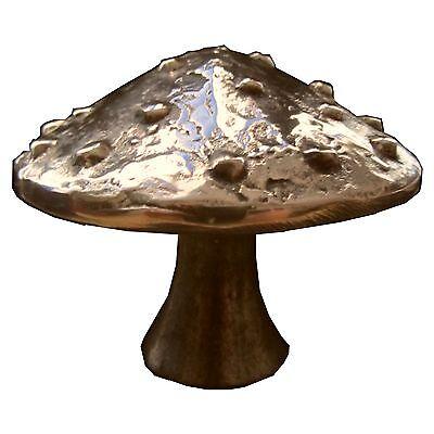 Bronzo Plastica Fungo Fortunato Mortale 6,5cm Bronze Sculpture Lucky Mushroom- Portare Più Convenienza Per Le Persone Nella Loro Vita Quotidiana