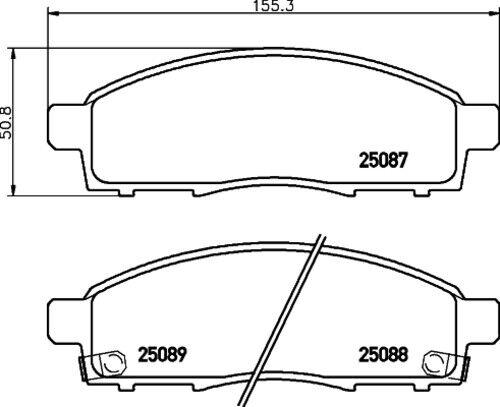 Brembo Disques De Frein Garnitures Avant ø257 Nissan 4002130