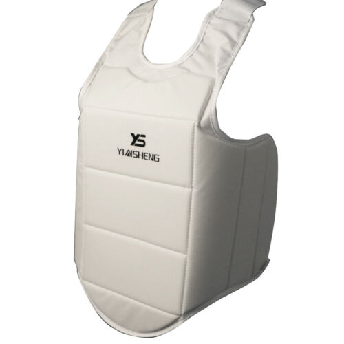 Padded Karate Chest Guard Martial Arts Sparring MMA Body Protector Shield L