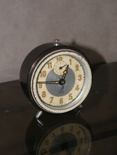 vintage clock alarm jaz retro desk  Art Deco design  Mechanics uhr old french