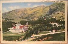 Montana Postcard COLUMBIA GARDENS Park Pavilion BUTTE Silver Bow News Linen