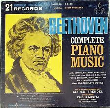 Beethoven Complete Piano Music 21 LP s Vinyl 33 rpm Set Record s Collector's