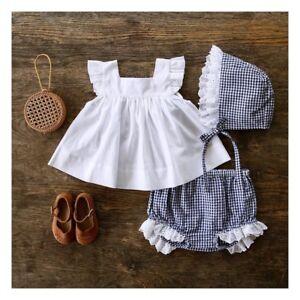 ca9a9d2c6e US Baby Girls Clothes Summer Ruffle Shirt Dress Tops+Shorts PP Pants ...