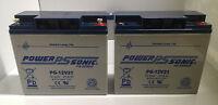 2 X Power Sonic 12v 21ah (17ah 20ah) Agm/gel Battery Mobility Cv Leisure Comfort