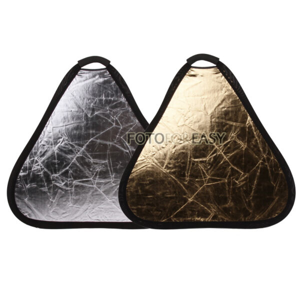 60cm 24' 2-in-1 Handheld Triangular Light Collapsible Portable Reflector Panel