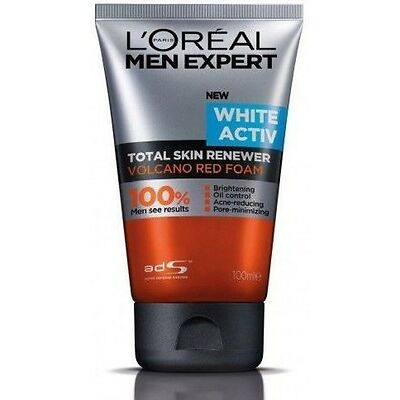 Loreal Men Expert Volcano Red Foam Face Wash And Charcoal Black Scrub