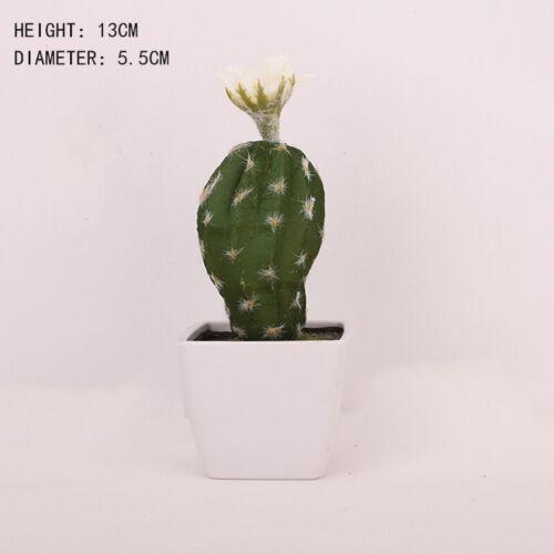 New 1X Mini Artificial Cactus Potted Bonsai Plant Office Desktop Home Decor Gift