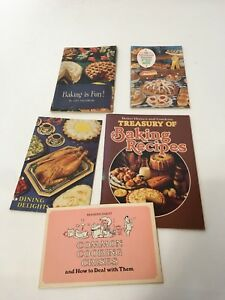 Vintage Lot of 5 Cookbooks Booklets Manuals 1970s Recipes