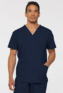 b7bfeae4a01 Navy Blue Dickies Scrubs EDS Signature Mens V Neck Top 81906 NVWZ | eBay