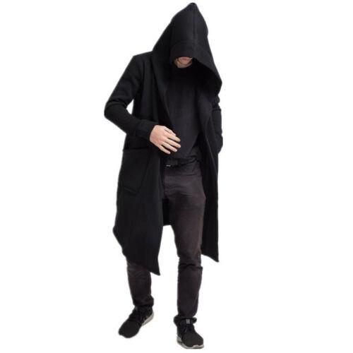 Médiéval Renaissance Unisexe Assassin Manteau Cardigan à Capuche Veste Sweat à Capuche Long Top