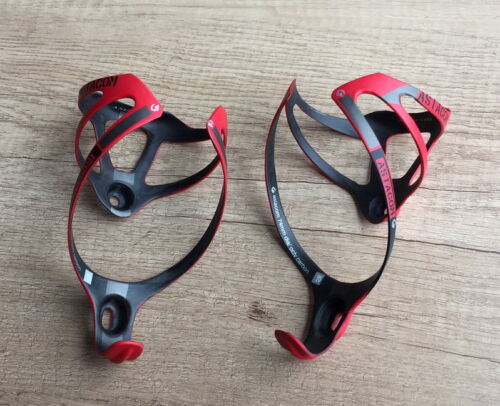 2x Carbon MTB Mountain Road Bike Bicycle Drink Water Bottle Holder Cage 74mm Red