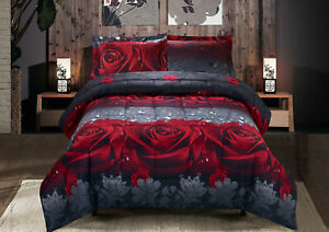 3D-Red-Roses-3-Piece-Queen-Size-Printed-Box-Stitched-Breathable-Comforter-Set