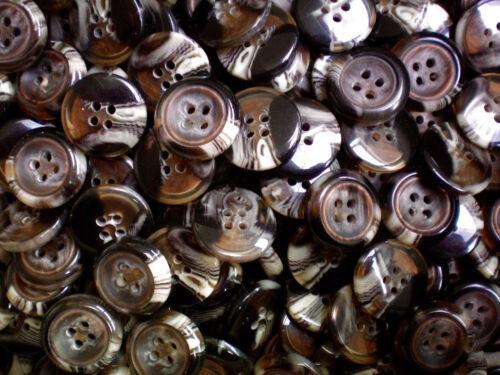 CB61-CB66X 15mm 18mm 23mm 28mm 30mm 34mm Brown Beige Swirl Coat 4 Hole Buttons