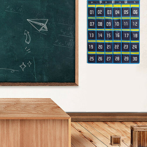 Numbered Classroom Pocket Chart For Cell Phones and Calculator Holder USA