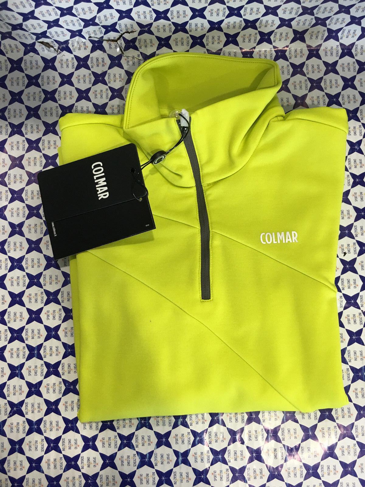 Pile Colmar damen - Lupetto Zip Sweatshirt Thermotec - Gelb Fluo - 9329