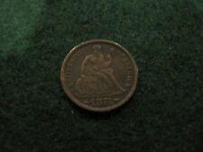 1874 DIME 10C ARROWS LOVE TOKEN ''BURT'' CONTEMPORARY FANTASY REAL COIN
