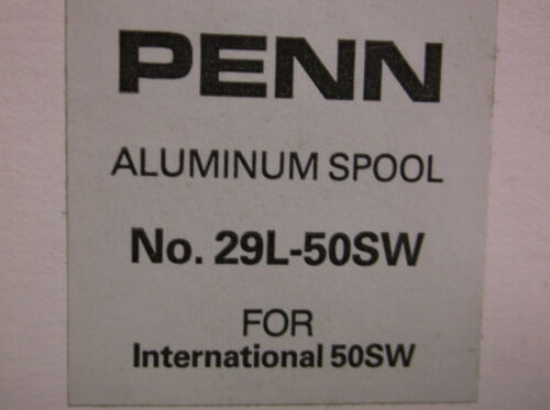 29L-50SW International 50SW Spool PENN BIG GAME REEL PART NEW
