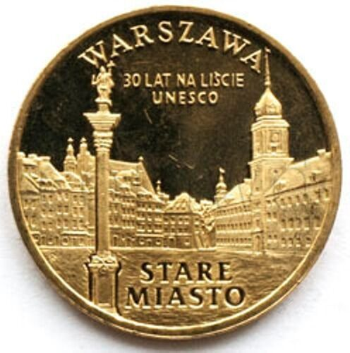 #888 Poland 2 zloty 2010 Stare Miasto w Warszawie UNC
