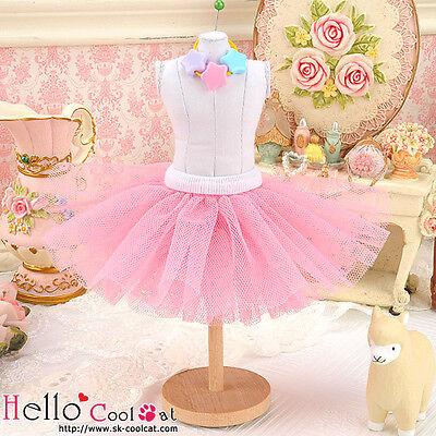 ☆╮Cool Cat╭☆155.【PC-12】Blythe/Pullip Tulle Ball Mini Skirt # Rose Pink