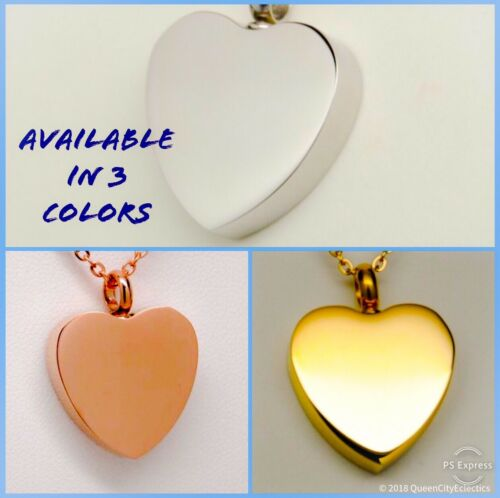 Engraveable Pet Cremation Urn Necklace Holds Dog or Cat Ashes
