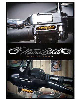 LED Blinker Harley-Davidson - Montage unter Armaturen - Dyna Street Bob Fat Low