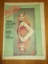 RECORD MIRROR OCTOBER 21 1978 VAN HALEN BOB GELDOF DAVID ESSEX SEX PISTOLS
