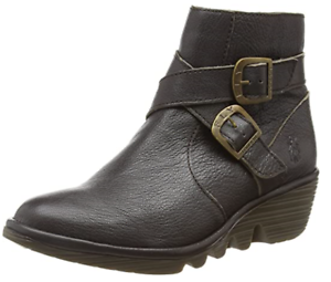 Genuine Fly London Women/'s Perz914fly Mousse Ankle Boots Chocolate Brown UK 7