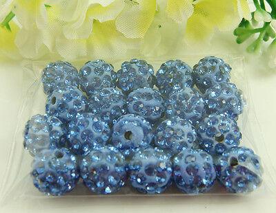 diy Disco Ball Clay Cz bead for shamballa Accessories charm Wholesale Lots 10mm