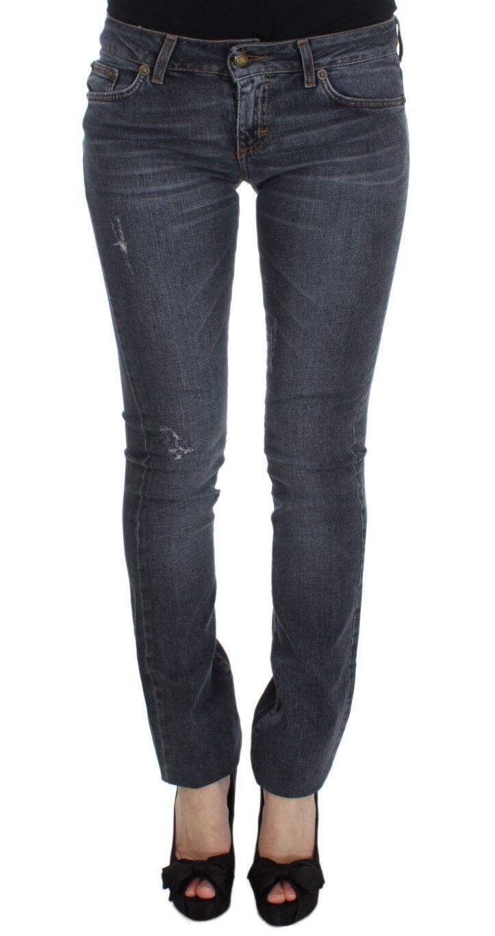 NEW JUST CAVALLI Jeans Pants bluee Wash Cotton Blend Slim Fit Denim s. W25