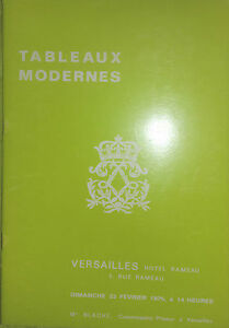 Febbraio 1975 Versailles Catalogue Di Vendita Lavagna Moderno