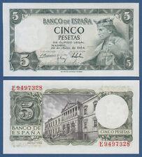 SPANIEN / SPAIN 5 Pesetas 1954 UNC  P.146