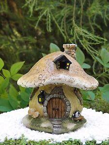 Miniature Dollhouse FAIRY GARDEN ~ Small Mushroom Fairy House Cottage ~ NEW