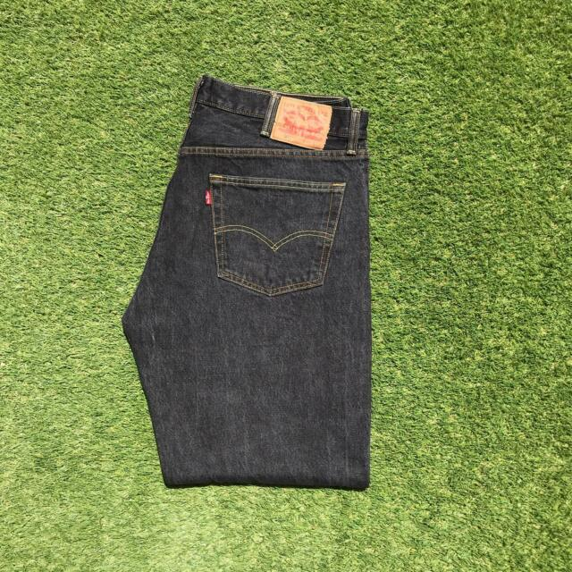 LEVIS 501 Mens Jeans 40 x 32 Dark Grey | Red Tab Straight Leg