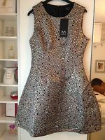 NWT AX Paris beautiful gold silver mermaid shell dress size 10 EUR 38 RRP £45