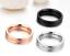 Anello-In-Acciaio-Unisex-Uomo-Donna-Numeri-Romani-Argento-Oro-Nero-Fedina-Fede miniatura 8