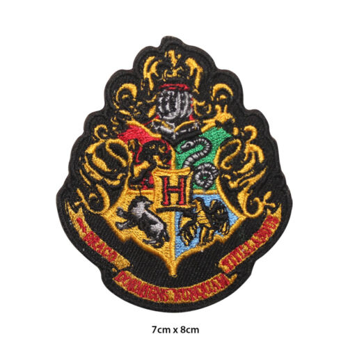 Harry Potter Hogwarts Embroidered Patch Iron on Sew On Badge For Clothes etc