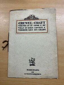 """Raro Antiguo """"Crewel-Craft"""" Por Robersons De Knightsbridge Libro Ilustrado (Ll )"""
