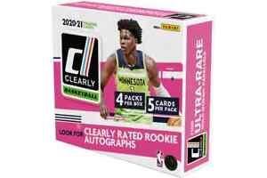 2020-21 Panini Clearly Donruss Basketball Hobby Box Factory Sealed NEW!