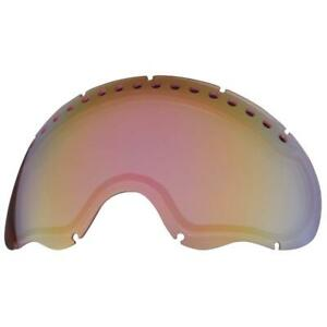 Oakley A FRAME SNOWBOARD GOGGLES REPLACEMENT LENS VR50 PINK IRIDIUM (01035)