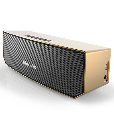 Neuf Bluedio BS-3 Haut-parleur Enceinte Bluetooth stéréo sans fil Portable Doré