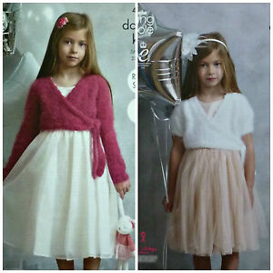 1c153a18724b KNITTING PATTERN Girls Easy Knit Long or Short Sleeve Ballerina ...