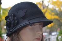 Soft Wool Cloche Flapper Women's Fedora Bell Derby Church Dress Hat Cap 4 Colors