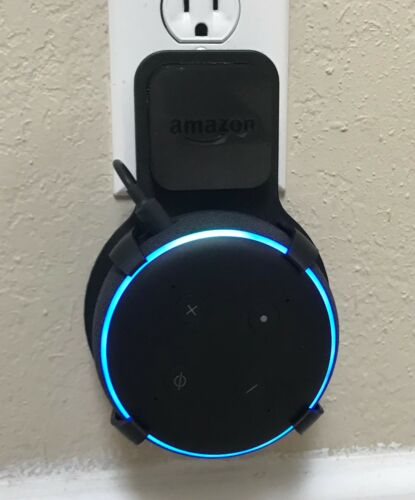 SturdyGrip™ PLUG-IN Wall Mount for Amazon Echo Dot 3rd Gen (Black)